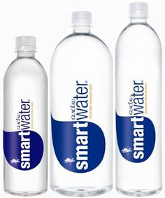 I use one 33.8oz bottle of smart water that I refill from my Brita Filter pitcher 3x a day. My goal is 99 oz of water daily. |SIZES: (16.9 fl oz 20 fl oz 23.7 fl oz 1 Liter 1.5 Liter)