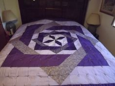 king size purple Labyrinth quilt 4-6-2014
