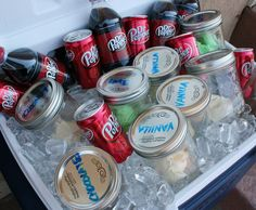 Mason jar servings of ice cream will take the work (and mess) out of ice cream floats or a sundae bar.