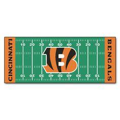 The Cincinnati Bengals Football Field Runner Area Rug by FanMats
