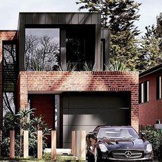 Dream house plans - Modern House Design Our house Modern Brick House, Modern House Design, Red Brick Houses, Dream House Exterior, Dream House Plans, Modern Exterior, Exterior Design, Black Exterior, Recycled Brick