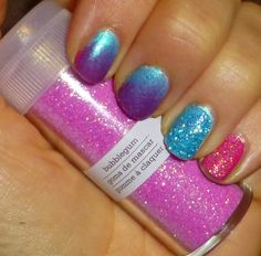 Last year, I went on a glitter buying frenzy. Collecting a rainbow of sparkly products that I thought would work on my nails. My Nails, Nail Polish, Fairy, Glitter, Beauty, Nail Polishes, Cosmetology, Polish, Glow