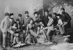 Group, including the Prince and Princess of Wales and their children, 1882 [in Portraits of Royal Children Vol.29 1882-1883] | Royal Collection Trust