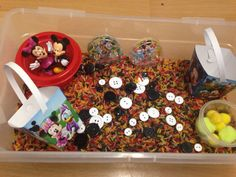 Mickey Mouse Sensory Bin and Busy Box by Sensationalsenses on Etsy