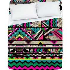 These Native-American inspired prints are hot these days and perfect for the hipster's or any one else's bedroom!