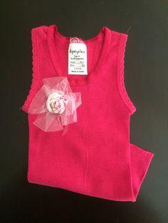 { B A B Y  G I R L  E M B E L L I S H E D  S I N G L E T }  https://www.etsy.com/au/listing/268490023/baby-girl-embellished-singlet-lace  #handmade #adorable #embellished #babygirl #pink #floral #lace #saxonandlola