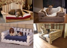 Wooden Pallet Dog Beds. DIY dog beds made out of pallets for your furbaby.