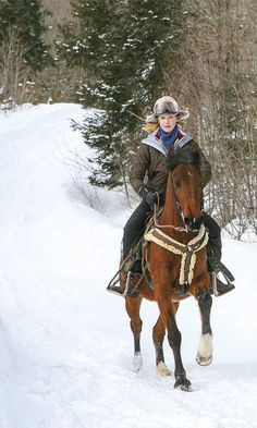 """Whether you're in Montana, Colorado or Canada, in the right conditions and with the right gear, you can enjoy the crisp outdoors and have your own """"dashing through the snow"""" cowgirl moment. (scheduled via http://www.tailwindapp.com?utm_source=pinterest&utm_medium=twpin&utm_content=post28416002&utm_campaign=scheduler_attribution)"""