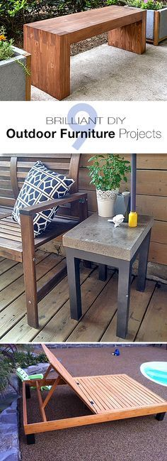 9 Brilliant DIY Outdoor Furniture Projects • Lots of ideas and tutorials!