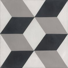 """Mediterranea Dimensions 8"""" x 8"""" Quarry Hand-Painted Tile in Black/Gray"""
