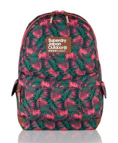 e06b18ea17 Shop Superdry Womens Hawaiian Leaves Rucksack in Green pink. Buy now with  free delivery from the Official Superdry Store.