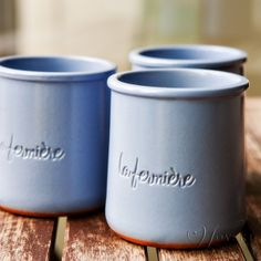 La Fermiere French yogurt - why can't our yogurt come in these cute little clay pots?!