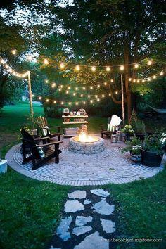 nice Brooklyn Limestone: Country Cottage DIY Circular Firepit Patio... by http://www.danazhome-decorations.xyz/country-homes-decor/brooklyn-limestone-country-cottage-diy-circular-firepit-patio/ #ad
