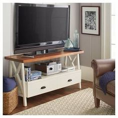 "Larkspur TV Stand Off-White 49"" : Target"