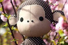 Cute Monkey rag doll sewing pattern PDF par DIYFluffies sur Etsy, $9.00