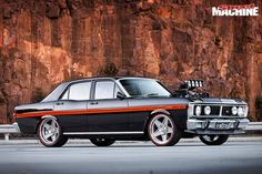 A stunningly built Ford Falcon XY GT replica with a blown and injected twist! Australian Muscle Cars, Aussie Muscle Cars, Ford Falcon, Drive Shaft, Custom Vans, Performance Cars, Ford Gt, Cool Cars, Dream Cars