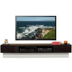 Wall Mounted TV Stand - Mayan Espresso - Woodwaves