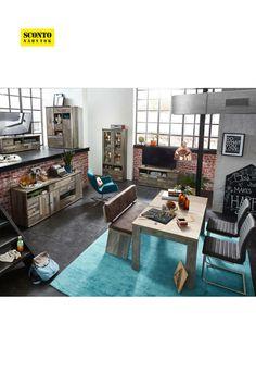 Jídelní stůl s rozkládáním. Rozkládací funkce umožňují rozšíření o 40 cm. Design inspirovaný plážovými domy. Furniture, Design, Home Decor, Decoration Home, Room Decor, Home Furnishings, Home Interior Design, Home Decoration