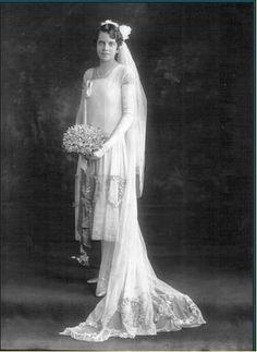 1920 Robe de mariée d'autrefois