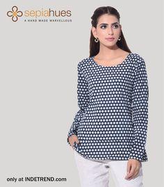 #trendy#sepiahues_clothing#clothing#brand#sepiahues#fashion#apparel#design#fusionShop Ladies latest fashion dresses @INDETREND.com
