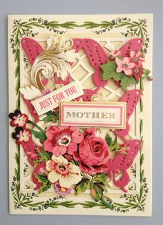 "ANNA GRIFFIN PAPERCRAFTS ""JUST FOR YOU MOTHER"" HANDMADE BIRTHDAY GREETING CARD  #Handmade #MothersDay"