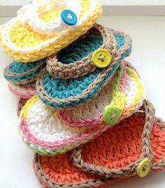 free crochet pattern cubby baby flip flops