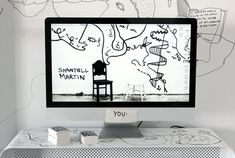 The walls of artist Shantell Martin's Brooklyn studio apartment. Very cool.