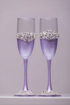 Wedding glasses and Cake Server Set Wedding Cake Knife