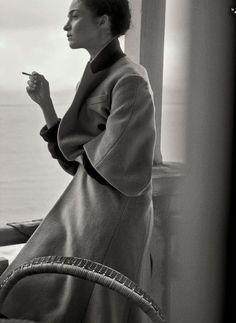 Mariacarla Boscono by Peter Lindbergh for Vogue Italia Sept 2014