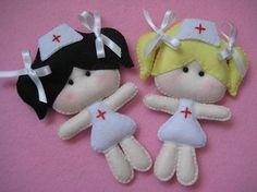 Enfermeirinhas de feltro | Feltro | Pinterest