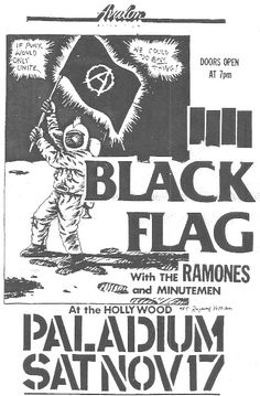 Black Flag, the Ramones, and the Minutemen flyer