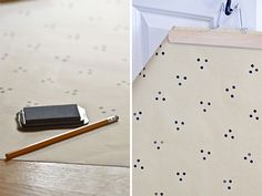 DIY Hand-stamped wrapping paper by Swoon Paper Studio