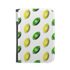 Yellow and Green Football Pattern Case For The Kindle