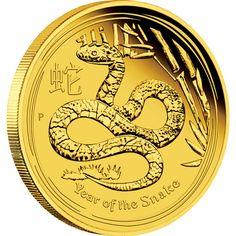 オーストラリア 2013年 第2次 十二支銀貨プルーフシリーズ <巳年蛇図> 100ドル金貨 プルーフ M03910001 | TAISEI COINS online shop. | 泰星コイン株式会社