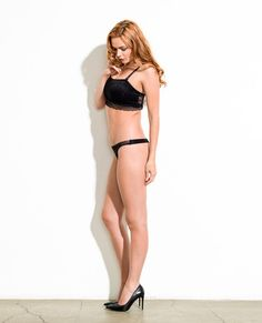 Queen Bee Lace Soft Bamboo Jersey Thong  at Leslunes.com