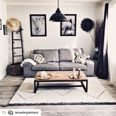 Berber type rug in wool Drawer - PAVOT - moroccan Living Room Upstairs, Living Room Sofa, Living Room Decor, Decoration Gris, Apartment Chic, Moroccan Decor, Living Room Colors, Home Decor Bedroom, Home Decor Styles