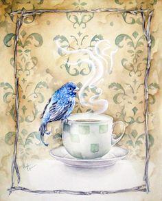 blue bird coffee by Kayla-Noel