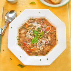 Pesto-Pasta-White Bean Soup-Easy, Nourishing Winter Warmer-Upper -