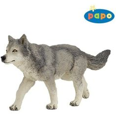 Papo - Grey Wolf 53012 by Papo. Part of the Papo Forest Animal Series. Papo Grey Wolf figure is a standing figuer. The Papo Grey Wolf is a hand painted sculpture. Safari, Jungle Animals, Forest Animals, Figurine Papo, Mon Zoo, Wolf Kids, Animal Action, Wolf Stuff, Plastic Animals