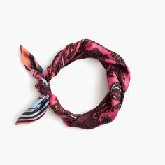 Italian Silk Square Scarf In Vibrant Paisley   Women s Winter Scarves    J.Crew 06e8b991ff8