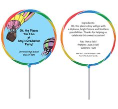 Could be a cute favor for a Oh The Places You'll Go birthday party