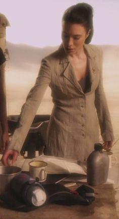 """Helena G. Wells (Jamie Murray) of TV's Warehouse 13. The ambiguous anti-hero and the brilliant inventor are fairly exclusive """"guy"""" territory. This little gender-bender piece of writing recast H.G. Wells and made a truly memorable character."""