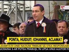 Ponta, huiduit si Iohannis aclamat la manifestarile de la Iasi, Mica Uni...