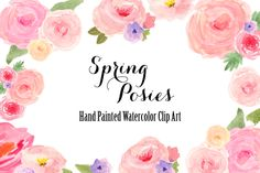 Check out Watercolor Spring Flowers Clip Art by Bella Love Letters on Creative Market!! They are so pretty!