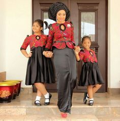 Choose from the best and beautiful matching African ankara styles for mother and daughter. These ankara styles are meant for stunning mother and daughter African Fashion Ankara, Ghanaian Fashion, African Inspired Fashion, African Print Dresses, African Dresses For Women, African Print Fashion, African Attire, African Wear, African Women