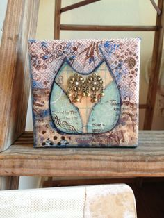 Tiny Owl Mixed Media Canvas Art