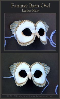 Fantasy Barn Owl - Leather Mask by windfalcon.deviantart.com on @deviantART