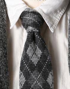 Engineered Garments  FW12 Knit Tie Grey Argyle