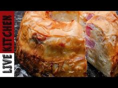 YouTube Cookbook Recipes, Cooking Recipes, Ham Pie, Life Kitchen, Happy Foods, Few Ingredients, Greek Recipes, Feta, Food To Make