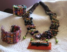 Fabric beads | fabric bead necklace & bracelets | Flickr - Photo Sharing!